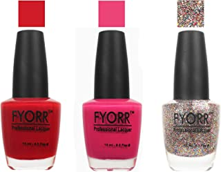 FYORR The Snow Fire Collection Nail Polish - Set of 3 (15 Ml Each)