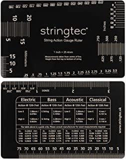 Imperial and Metric Guitar String Action Gauge Set Up Ruler for Electric, Acoustic, Bass, Classical Guitar Double Sided 50...