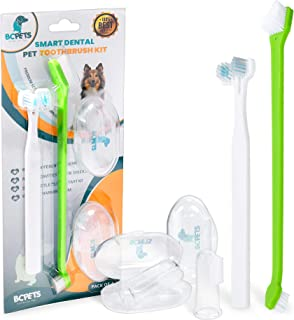 BC Pets Dog Toothbrush for Dogs & Cats - Dog Dental Care...