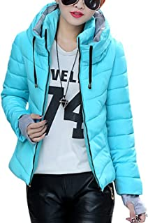 Women's Winter Parka Jacket Warm Stand Collar Cotton Quilted Down Coat