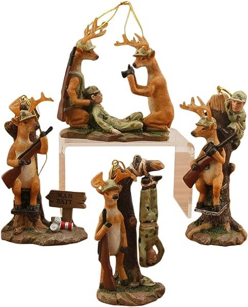 Decorative Deer Ornaments Set Of 4
