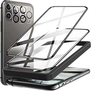 4 Pack LK 2 Pack Screen Protector + 2 Pack Camera Lens Protector Compatible with iPhone 11 Pro Max 6.5 inch, 9H Tempered G...