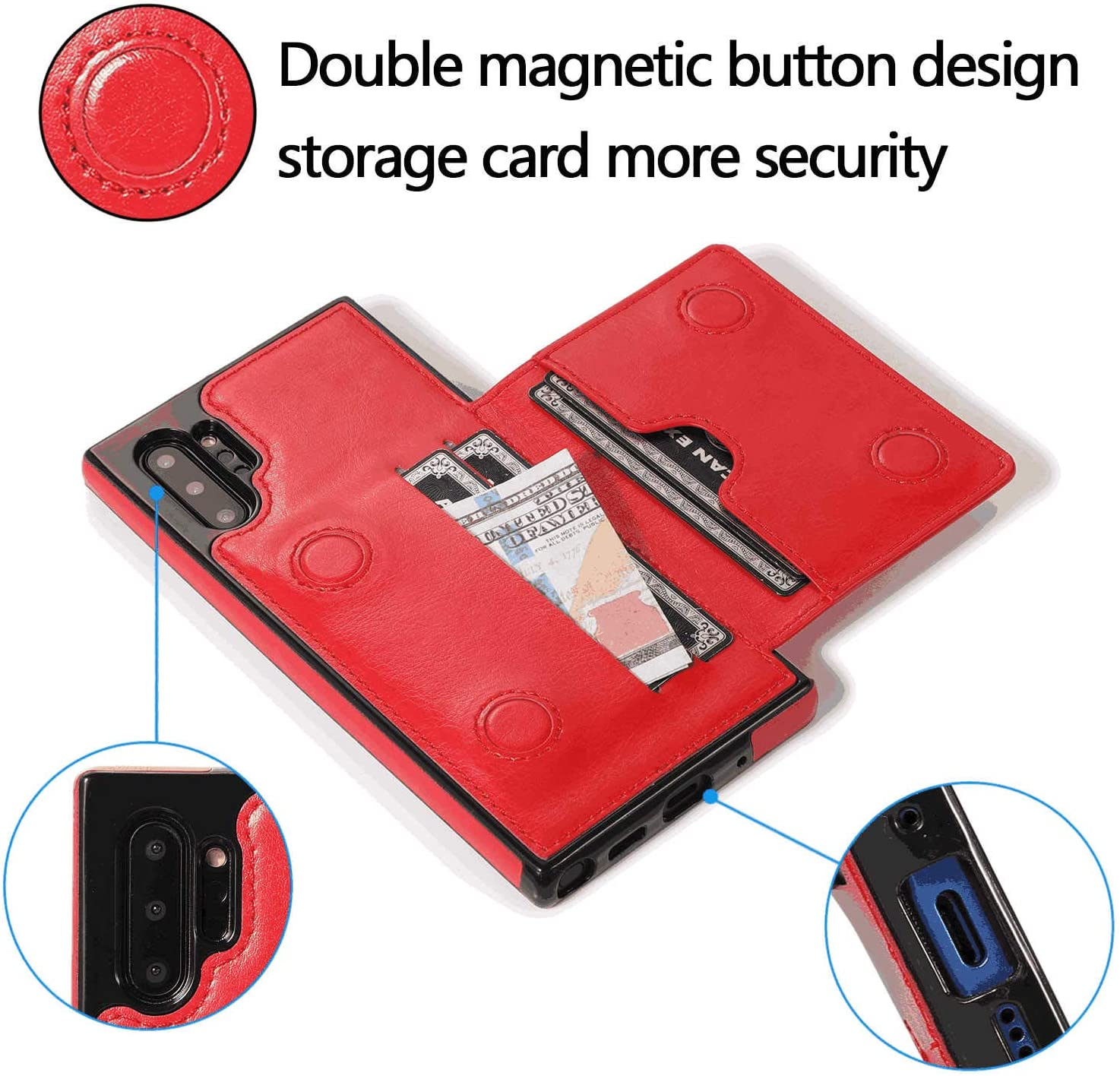 Cover for Leather Wallet case Card Holders Extra-Durable Business Kickstand Flip Cover Huawei P30 Flip Case
