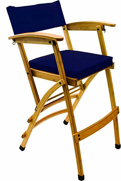 Hollywood Chairs By Totally Bamboo Deluxe 32 Bamboo Director Chair Navy
