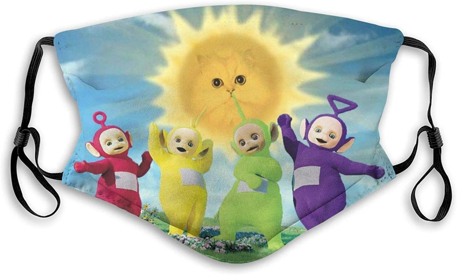 Teletubbies Face Mask Reusable for Adult&Kid Cover Protection Balaclava with 2 Filter, Made in USA