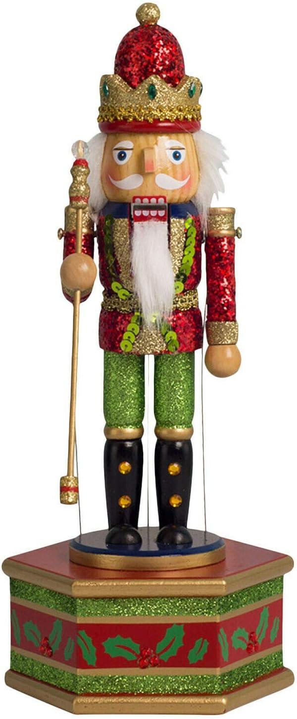 Ottimo Regalo per Natale A XXD-CC Carillon di Animazione Natalizio Fatto a Mano con schiaccianoci e Tamburo Adatto per la casa e la Decorazione della tavola