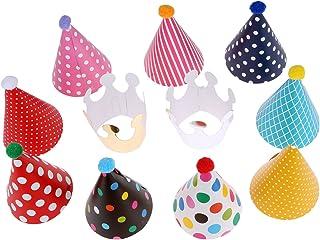 11個セット バースデー帽子 パーティー帽子 三角帽子 王冠 誕生日 お祝い パーティー小物 飾り 大人・子供兼用