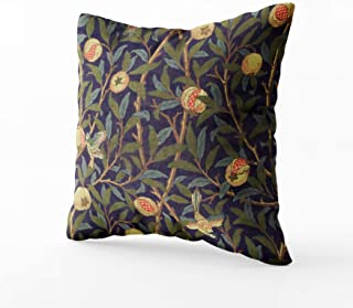 Musesh william morris bird and pomegranate Cushions Case Throw Pillow Cover For Sofa Home Decorative Pillowslip Gift Ideas Household Pillowcase Zippered Pillow Covers 20X20Inch