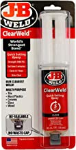 J-B Weld 50112 ClearWeld 5 Minute Set Epoxy Syringe – Clear – 25 ml