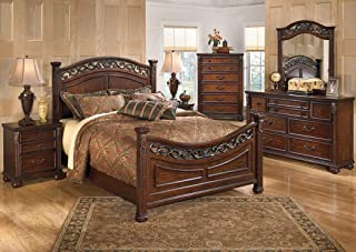 Amazing Buys Leahlyn Bedroom Set by Ashley Furniture - Includes California King, Dresser, Mirror and 2 Night Stands