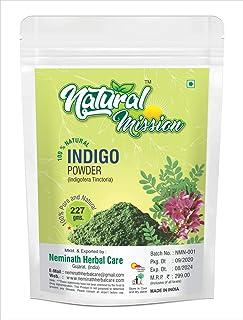 Indigo Powder 227g | Half Pound | 8 oz | 100% Pure Indigofera tinctoria Leaf Powder | Blue-Black Hair or Full Refund (Pls ...
