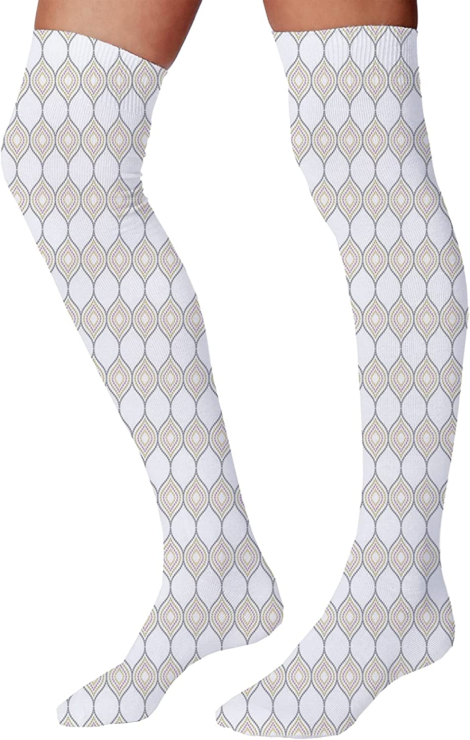 Men's and Women's Fun Socks,Abstract Artistic Illustration of a Baseball Player Posing Grunge