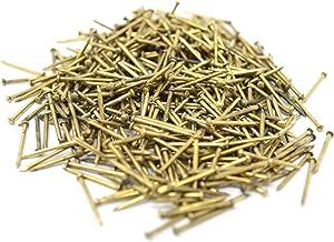 Design61 Pennen met ronde kop spijkers 1,2 x 10 mm ijzer messing 50g ca. 500 stuks