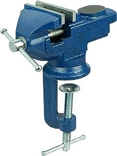 Tornillo de banco 70 mm con función de giro de tornillo de banco mesa, mesa de trabajo tornillo de acero fundido