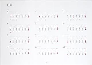 2018年12ヶ月ポスターカレンダー月曜始まり A1 シンプル&スタイリッシュデザイン