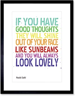 Quote Typography Good Thoughts Roald DAHL Framed Picture Art Print F12X8306