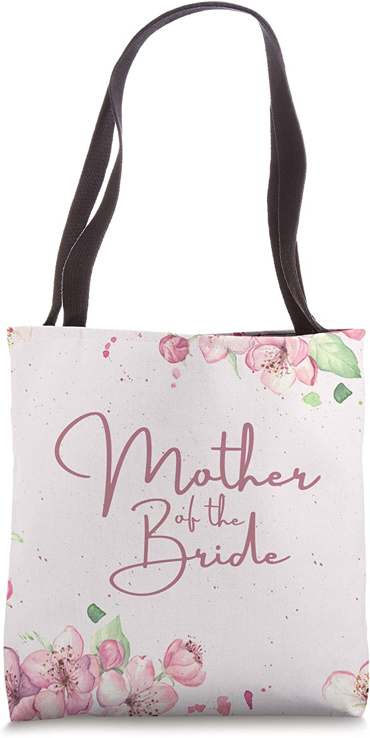 Mother Of The Bride Pink Cherry Blossom Floral Tote Bag