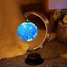Moon Lunar LED Nachtlamp met Stand, De Betoverde Lunar Lamp, Batterij Aangedreven Maan Vorm Nachtlampje Bureaulamp, Romant...