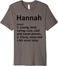HANNAH Definition Personalized Name Funny Birthday Gift Idea Premium T-Shirt