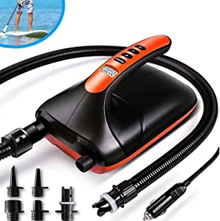 20PSI High Pressure SUP Electric Air Pump ,Dual Stage Inflation Paddle Board Pump for Inflatable Stand Up Paddle Boards, B...
