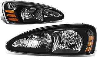 DNA MOTORING Black amber HL-OH-PGPR04-BK-AM Pair of Headlight [For 04-08 Pontiac Grand Prix]