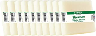 Stakich White Beeswax Blocks - Natural, Cosmetic Grade - 10 Pound (in 1 Pound Blocks)