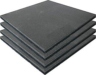 Fallskyddsmatta grå uppsättning med 4 1 m² höstskydd bräda lekmatta golvmatta golvmatta