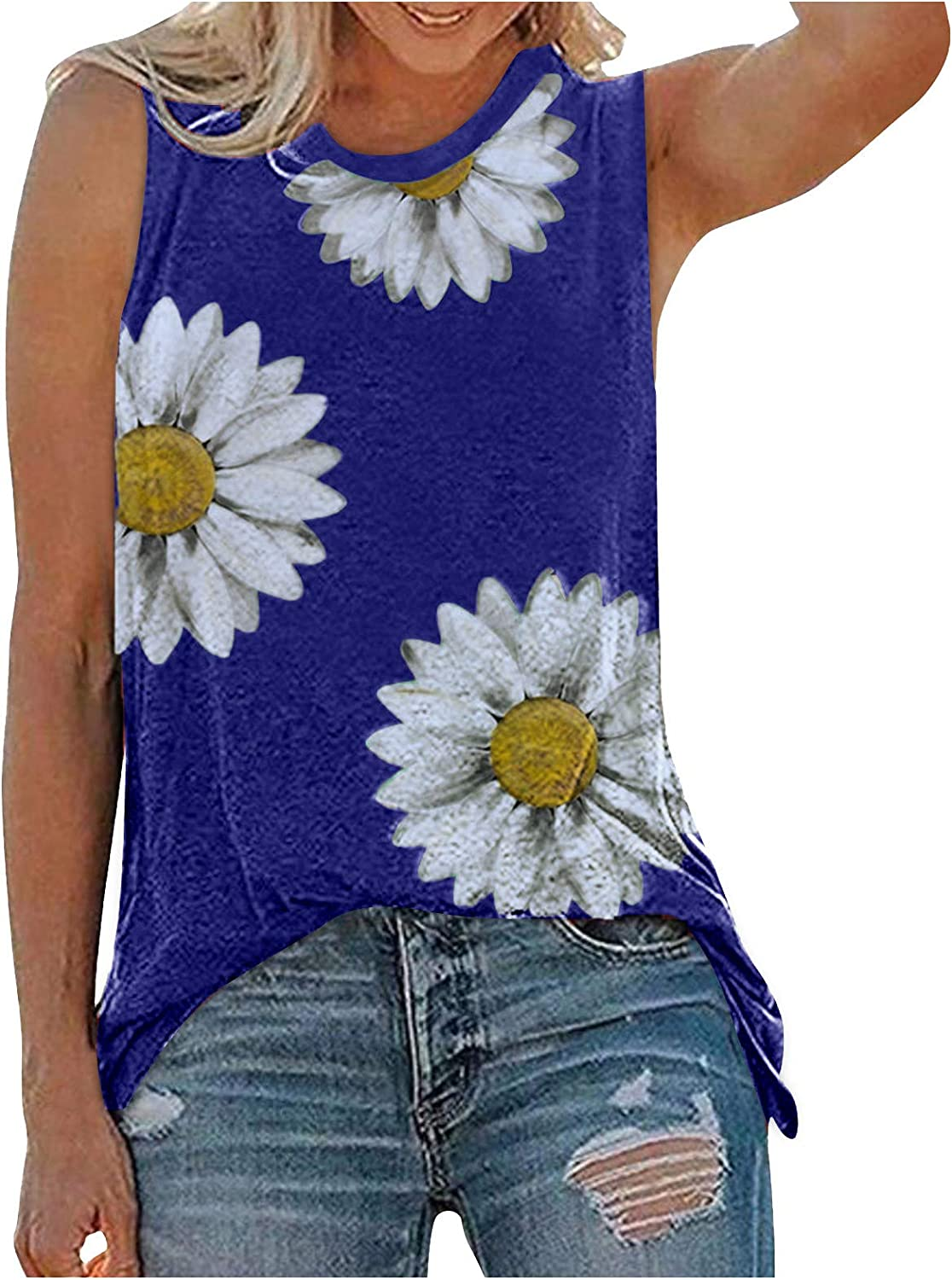 Summer Tops for Women,Padded Shoulder Tops for Women Crop Top Shirts Sleeveless Workout Blouse Loose Tee Crop Tops