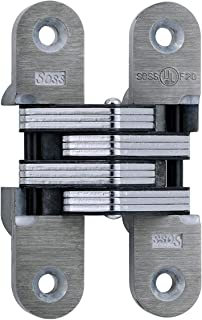 SOSS 216 Zinc 20 Min. Fire Rated Invisible Hinge with Holes for Wood or Metal Applications, Mortise Mounting, Unplated