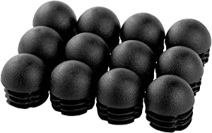 FEESHOW 12pcs Round Inserts End Caps Stoppers Plugs Furniture Leg Plug Floor Protector For Round Pipe Tube Decorative 28mm 28mm