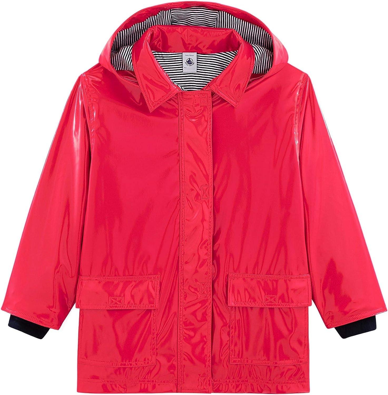 Petit Bateau Girls Rain Jacket, Shiny Pink