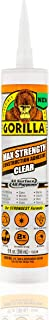 Gorilla Max Strength Clear Construction Adhesive, 9 ounce Cartridge, (Pack of 1)