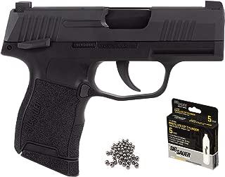 Sig Sauer P365 BB Gun Air Pistol with CO2 12 Gram (5 Pack) and Pack of 100 Airgun .177/4.5mm Steel BBS Bundle