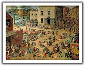 ArtWall Pieter Bruegel 'Children's Games' Unwrapped Canvas Art, 28 by 36-Inch