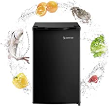 MOOSOO Compact Refrigerator, 3.2 Cu Ft Mini Fridge with Freezer, Compact Small Refrigerator with Energy Saving and Low noise, Ideal for Bedroom, Kitchen, Office and Dorm (Black) (Black)