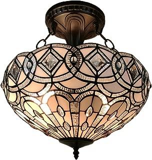 Tiffany Style Lamp Semi Flush 16