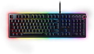 Razer Huntsman Elite - Teclado Gaming, Teclado Rápido, Switches Optomecánicos De Razer, Retroiluminación RGB Chroma, Dial Digital Multifunción, Reposamuñecas Ergonómico, ES Layout, Negro
