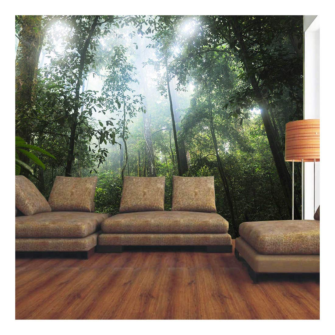 wallpaper murals with trees amazon co ukforest green tropical tree plant photo wallpaper mural home bedroom decoration
