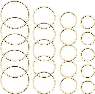 70pcs Earrings Beading Hoop Earring Finding Round Earring Circle Charms Round Beading Hoop Open Bezel Pendant Frame for Je...