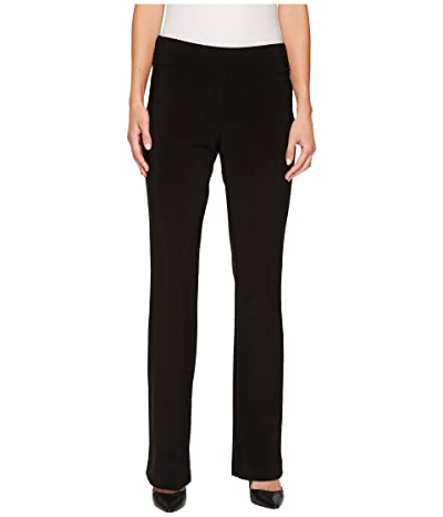 Krazy Larry Microfiber Long Slight Flare Pants (Black) Women