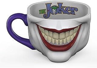 Zak Designs Batman Core Joker Half Face Sculpted Mug Unique 3D Character Sculpted Ceramic Coffee Mug, Collectible Keepsake...