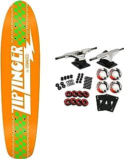 Krooked Skateboard Cruiser Complete Zip Zinger Classic Orange 7.5