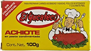 El Yucateco Paste Achiote, 3.5 oz 4 pack