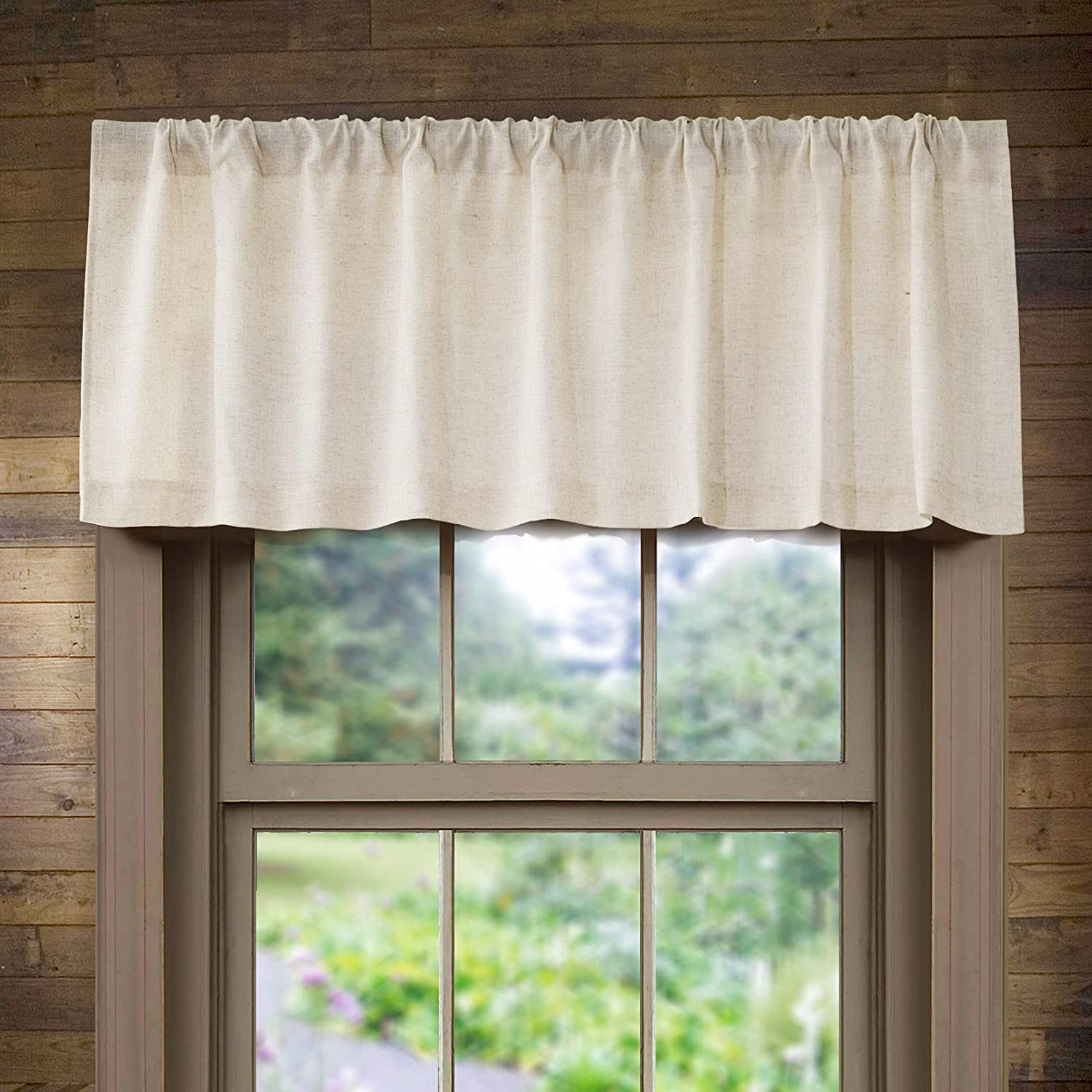 Linen Valance for Kitchen Max 52% OFF Rod Pocket Wind Rustic Farmhouse Crude Japan's largest assortment