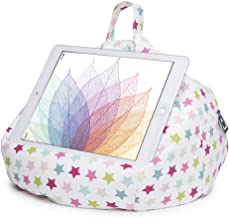 iPad Pillow & Tablet Stand - Securely Holds Any Size Tablet, eReader or Book Upto 12.9 inches, Hands Free Comfort at Any Angle on Any Surface - Pink Stars, by iBeani