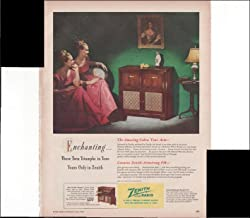 Zenith Radio Twin Triumphs In Tone Home Decor 1948 Vintage Antique Advertisement