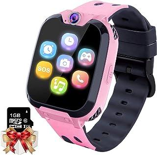 Smartwatch para Niños Game Watch - Juego de Música Reloj Inteligente (Incluye Tarjeta Micro SD de 1GB) con Juegos de Llamada Grabadora de Cámara Reloj Despertador para Niños Niñas(Rosa)