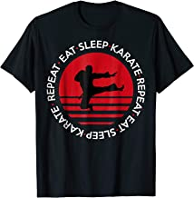 Funny Eat Sleep Karate Repeat TShirt