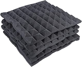 Id/éal pour lisolation acoustique de studio 01 bleu Lot de 12 plaques en mousse acoustique 30 x 30 x 2,5 cm Isolation acoustique Studio Foam Wedge Tiles
