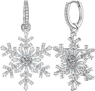Best snowflake earrings crystal Reviews